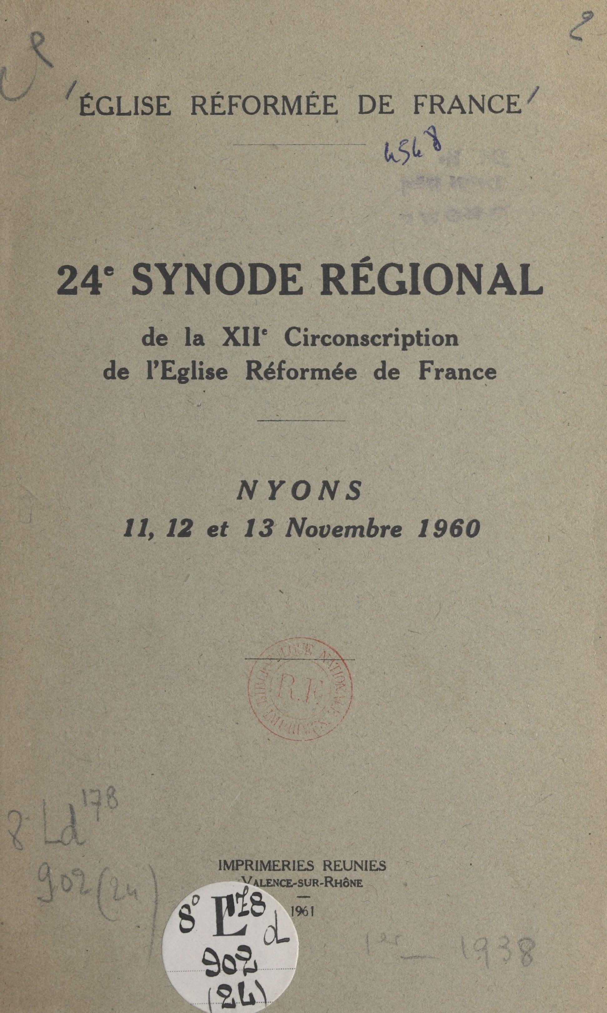 24e Synode régional de la X...