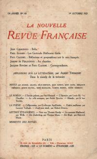 La Nouvelle Revue Française N' 145 (Octobre 1925)