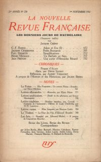 La Nouvelle Revue Française N° 230 (Novembre 1932)