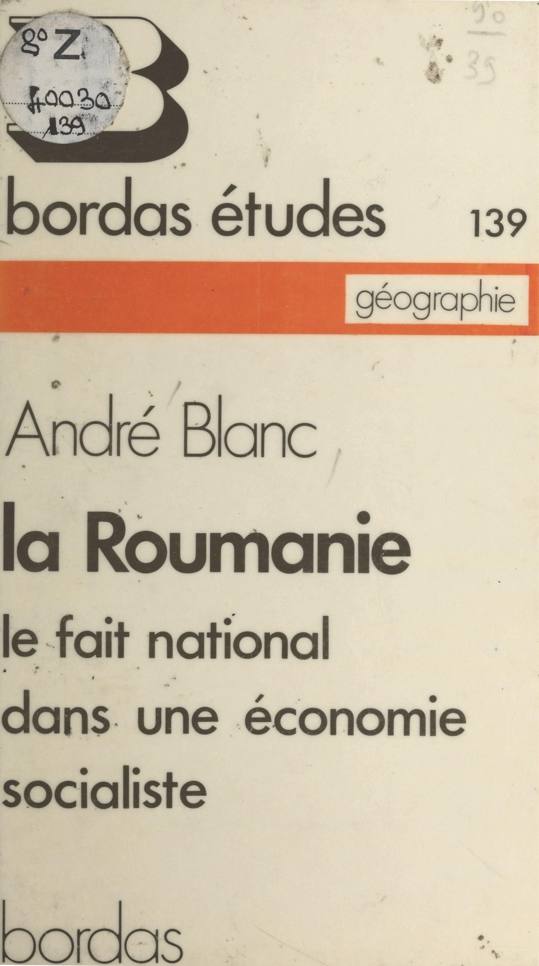 La Roumanie : le fait natio...