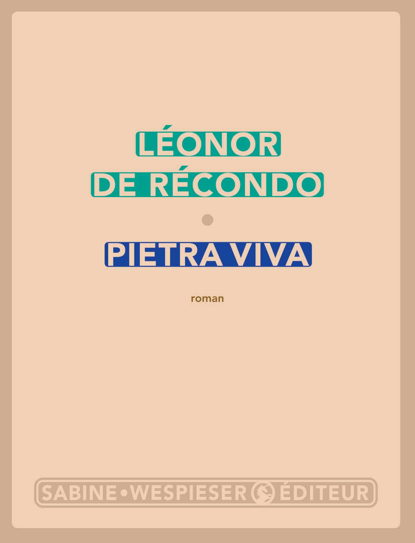 Pietra viva | de Récondo, Léonor
