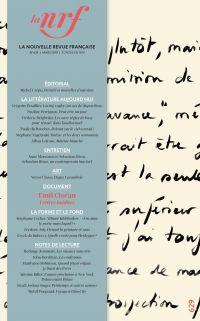 La Nouvelle Revue Française N° 629 (mars 2018)