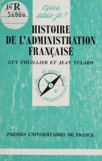 Histoire de l'administratio...