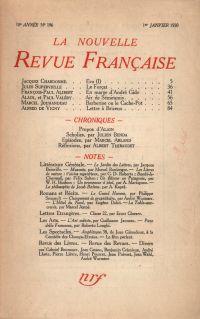 La Nouvelle Revue Française N' 196 (Janvier 1930)