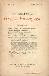 La Nouvelle Revue Française N' 37 (Janvier 1912)