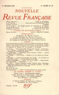 La Nouvelle Nouvelle Revue Française N' 26 (Février 1955)