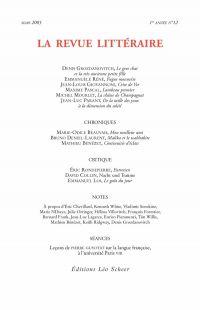 La Revue Littéraire N°12