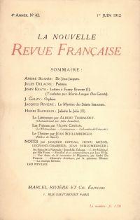 La Nouvelle Revue Française N' 42 (Juin 1912)