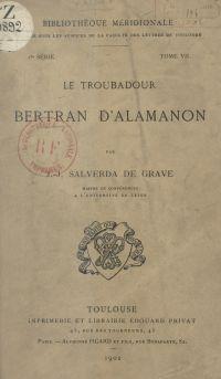 Le troubadour Bertran d'Ala...