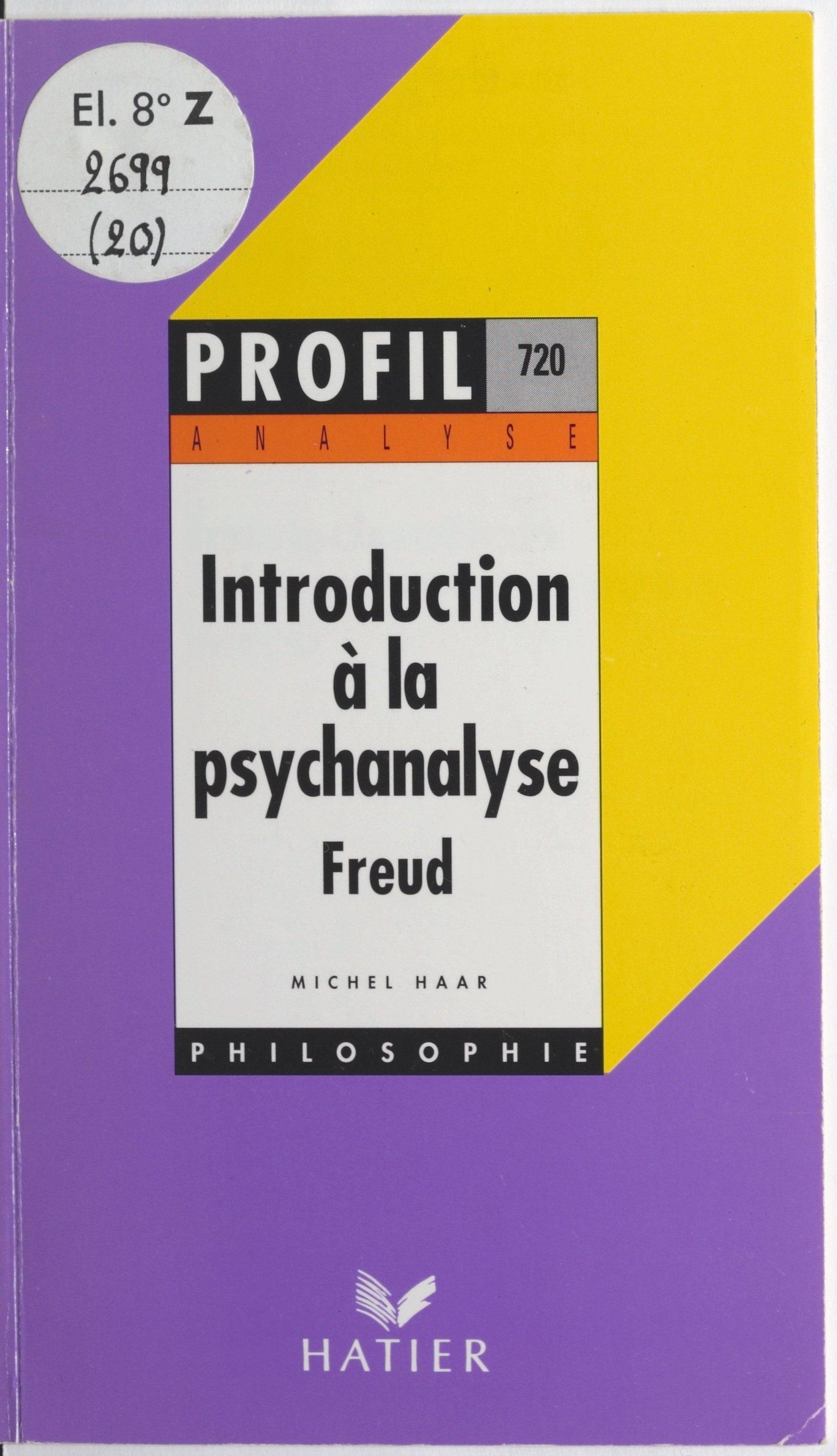 Introduction à la psychanal...