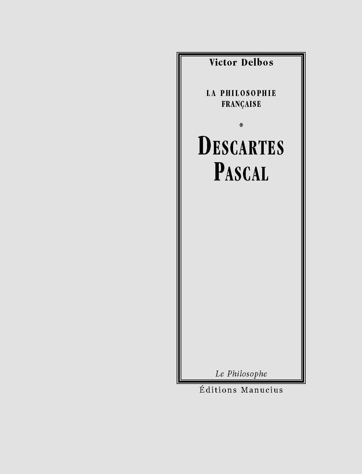 Descartes - Pascal