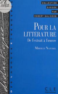 Pour la littérature