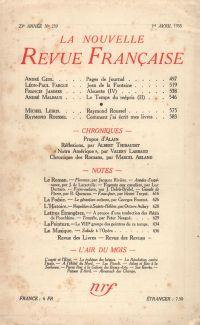 La Nouvelle Revue Française N° 259 (Avril 1935)