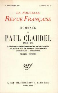 Hommage ŕ Paul Claudel N' 33 (Septembre 1955)