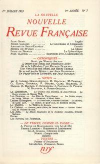 La Nouvelle Nouvelle Revue Française N' 7 (Juillet 1953)