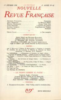 La Nouvelle Nouvelle Revue Française N' 62 (Février 1958)