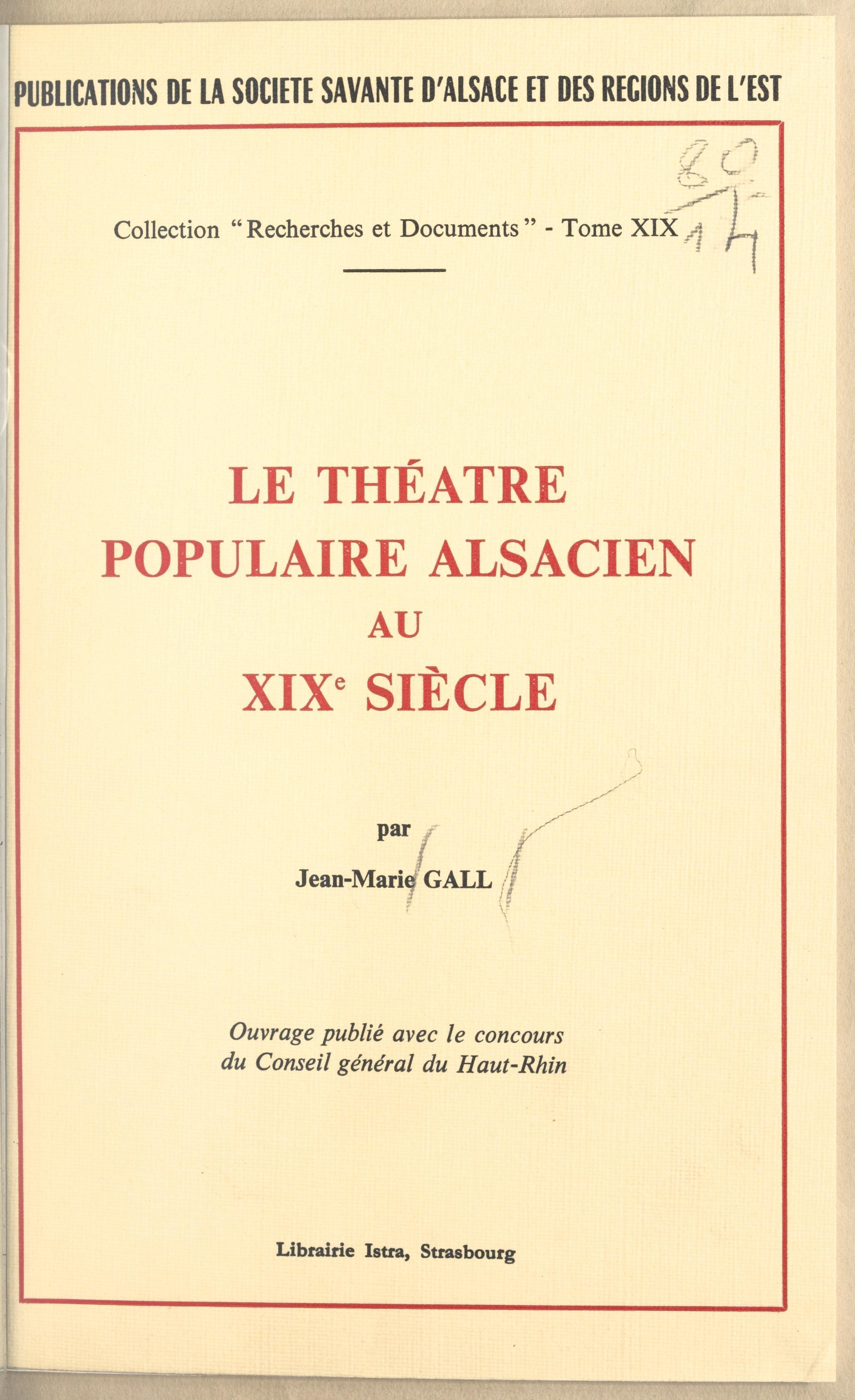 Le théâtre populaire alsaci...
