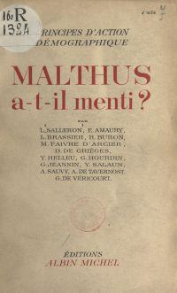 Malthus a-t-il menti ?