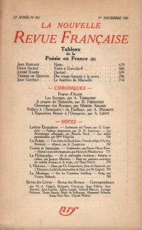 La Nouvelle Revue Française N° 242 (Novembre 1933)