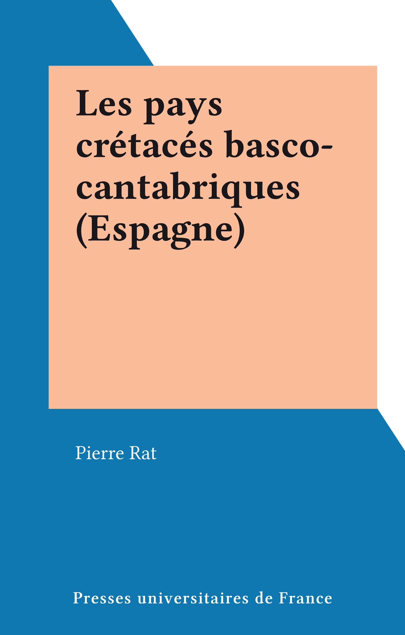 Les pays crétacés basco-cantabriques (Espagne)