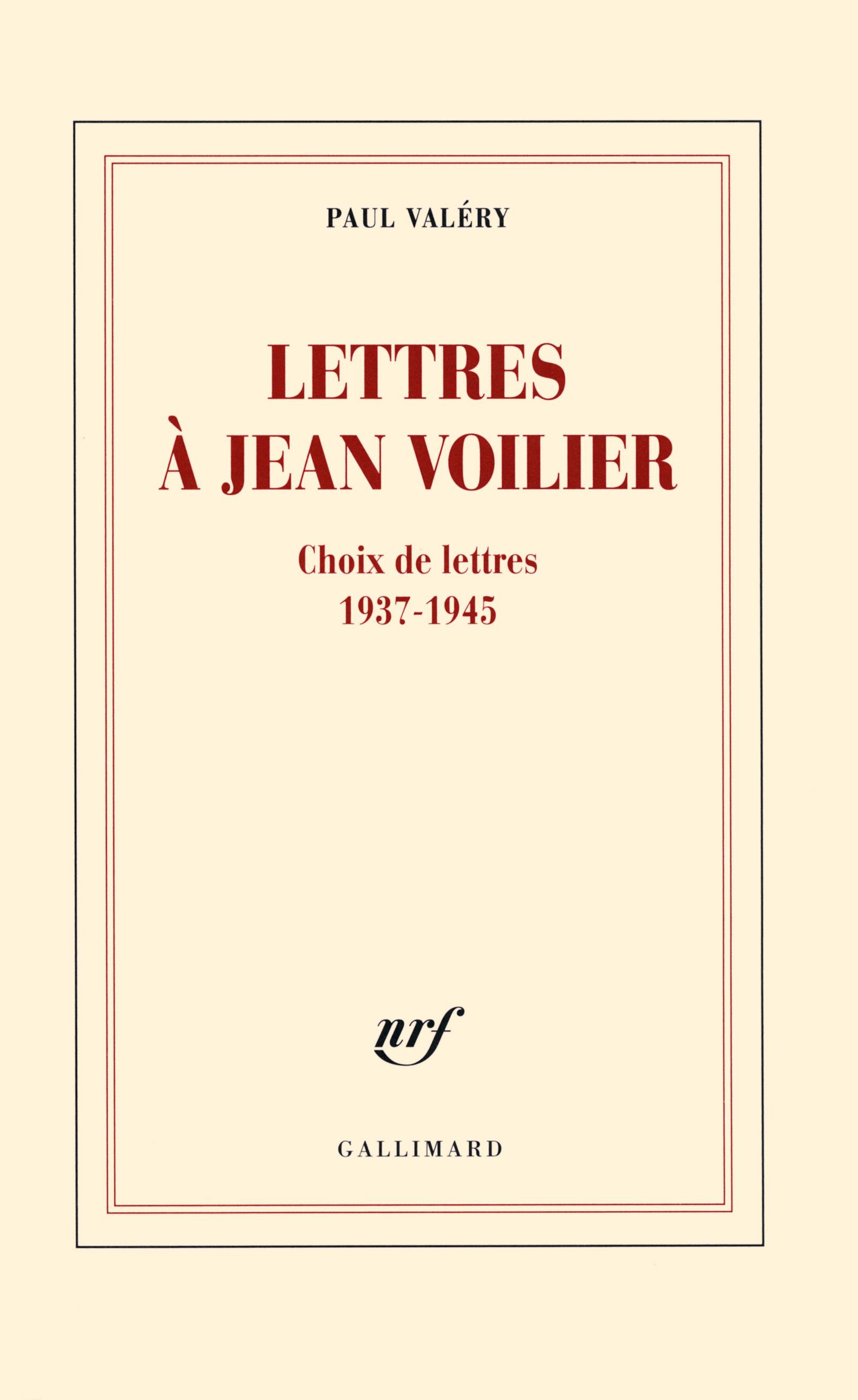 Lettres à Jean Voilier