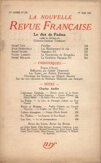 La Nouvelle Revue Française N° 236 (Mai 1933)