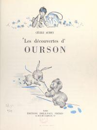 Les découvertes d'Ourson