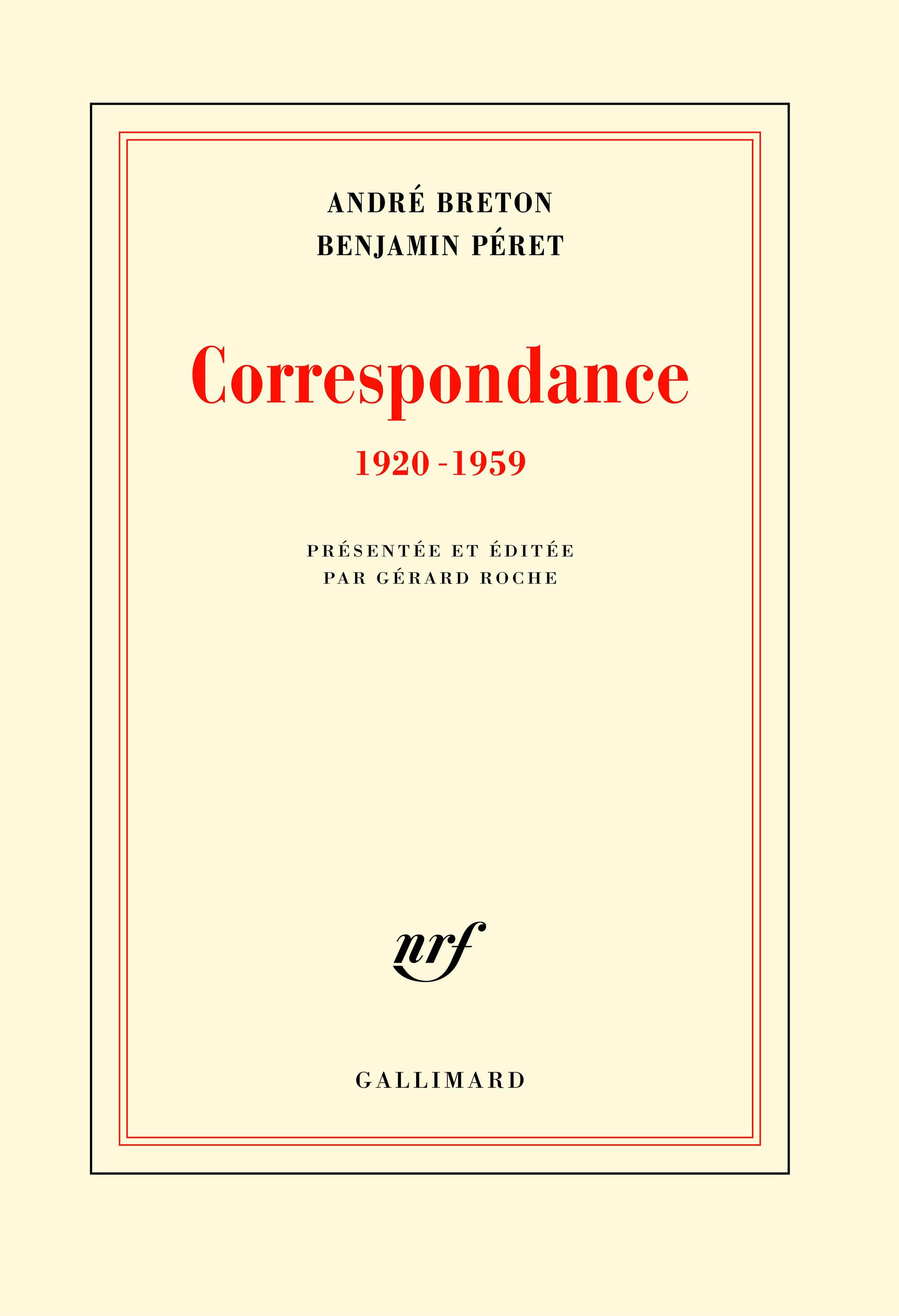 Correspondance (1920-1959)