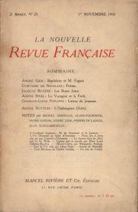 La Nouvelle Revue Française N' 23 (Novembre 1910)