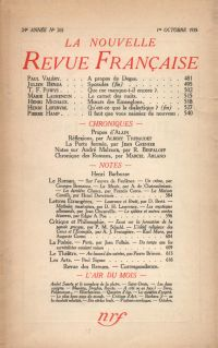 La Nouvelle Revue Française N° 265 (Octobre 1935)