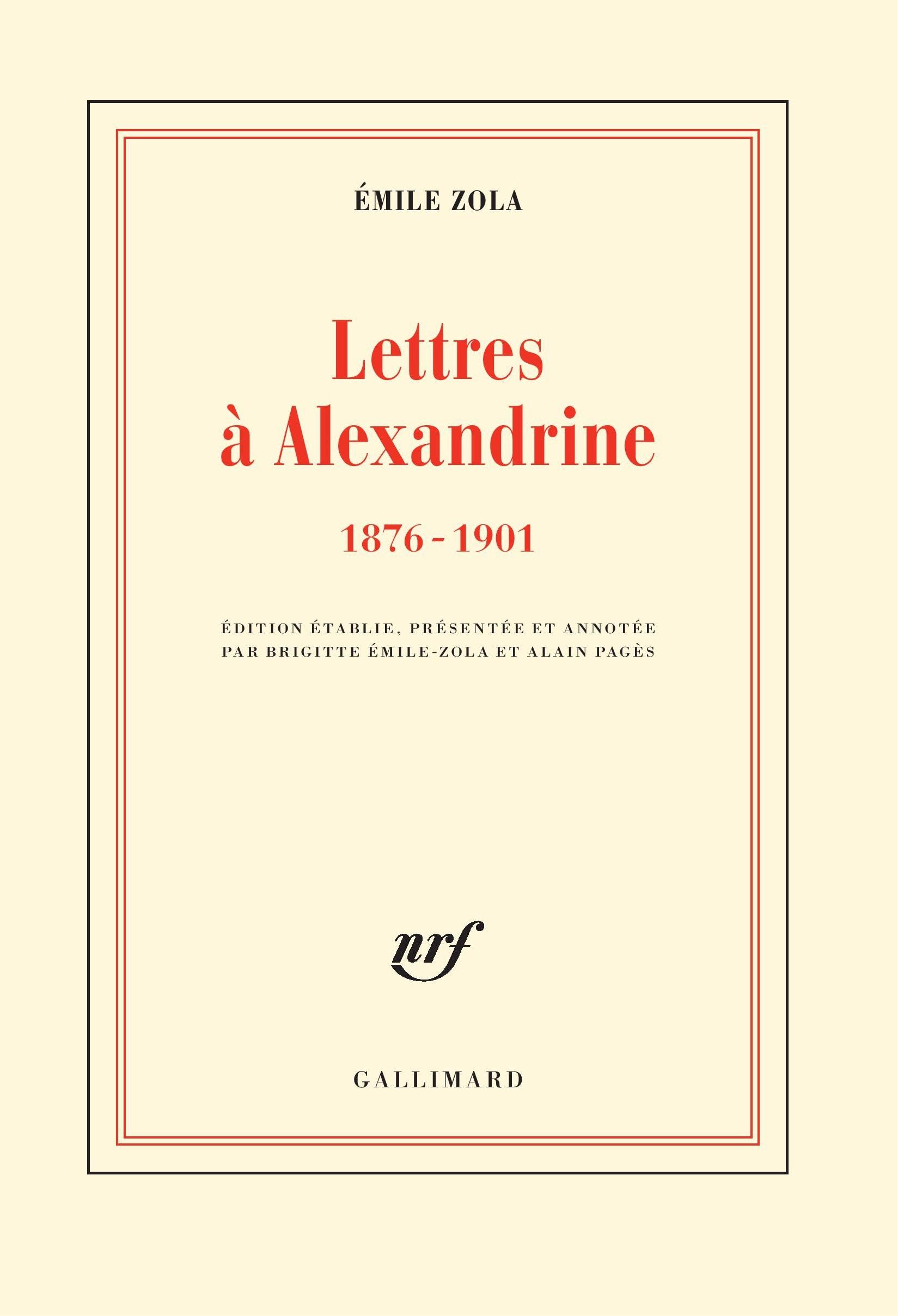 Lettres à Alexandrine (1876-1901)