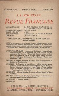 La Nouvelle Revue Française N' 127 (Avril 1924)