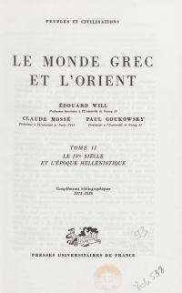 Le monde grec et l'Orient (2)