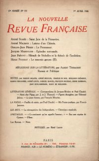 La Nouvelle Revue Française N' 151 (Avril 1926)