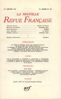 La Nouvelle Revue Française N' 169 (Janvier 1967)