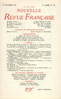 La Nouvelle Nouvelle Revue Française N' 34 (Octobre 1955)