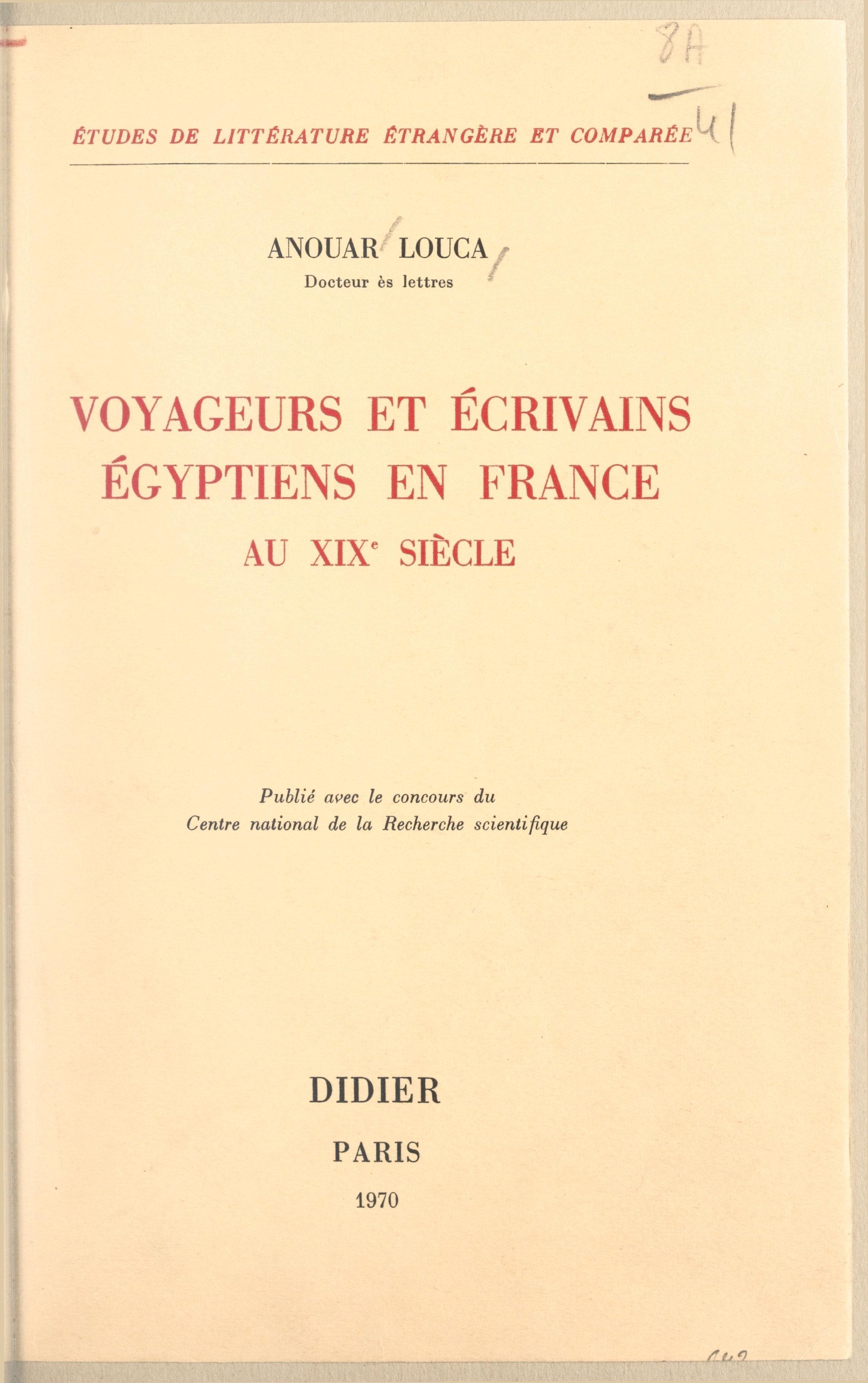 Voyageurs et écrivains égyp...