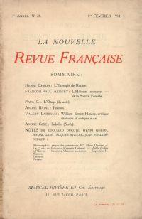 La Nouvelle Revue Française N' 26 (Février 1911)