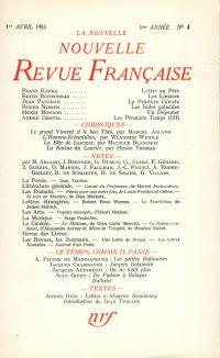 La Nouvelle Nouvelle Revue Française N' 4 (Avril 1953)