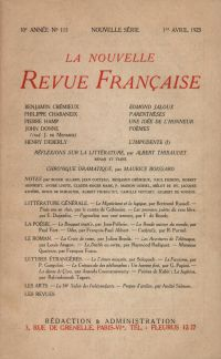 La Nouvelle Revue Française N' 115 (Avril 1923)