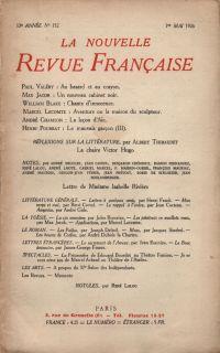 La Nouvelle Revue Française N' 152 (Mai 1926)