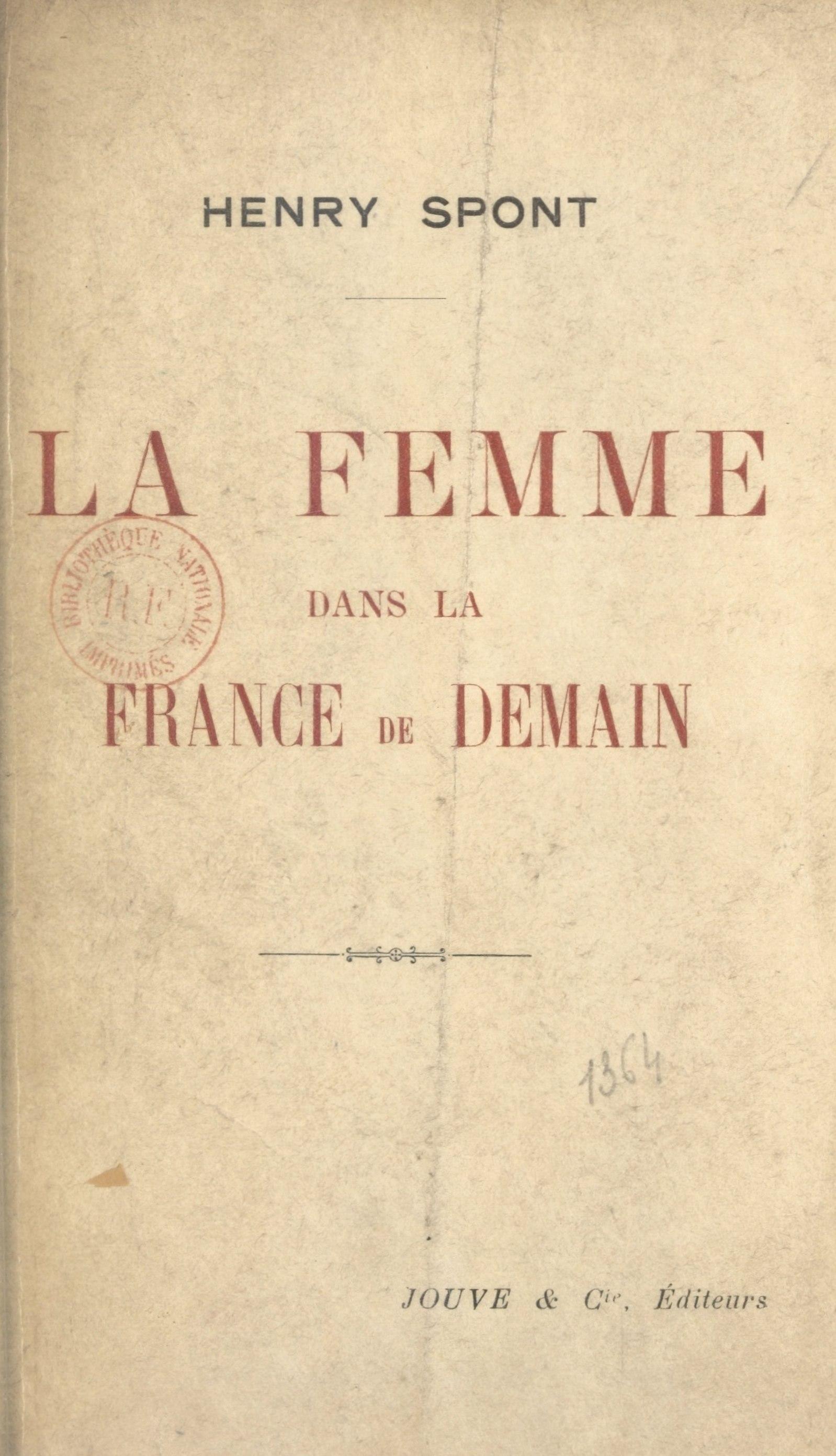 La femme dans la France de demain