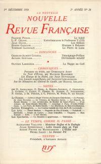 La Nouvelle Nouvelle Revue Française N' 24 (Décembre 1954)