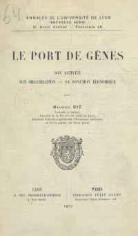 Le port de Gênes