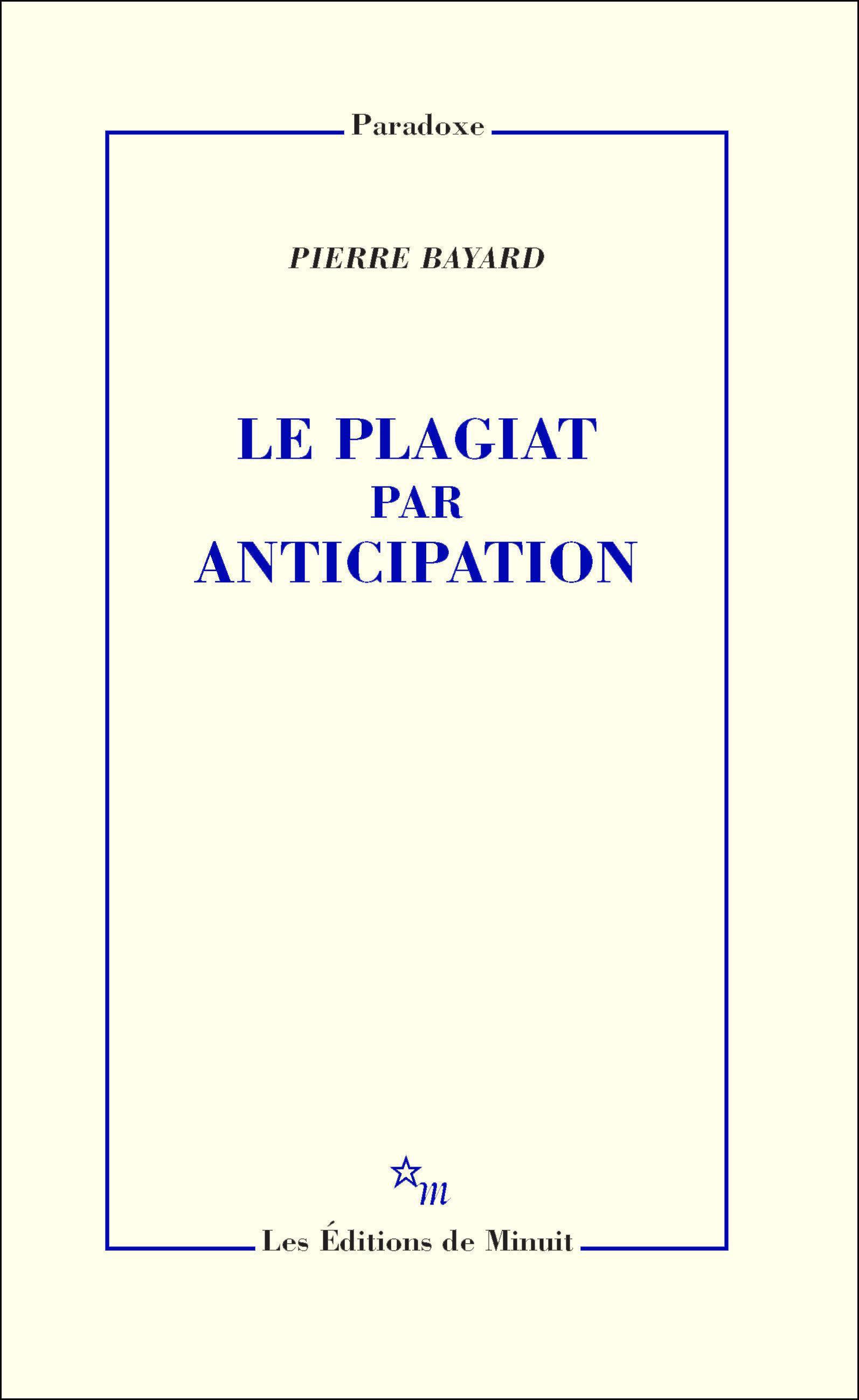 Le Plagiat par anticipation