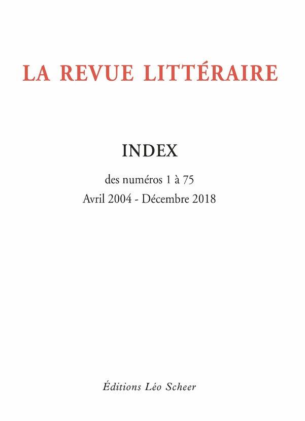 La Revue Littéraire Index (...