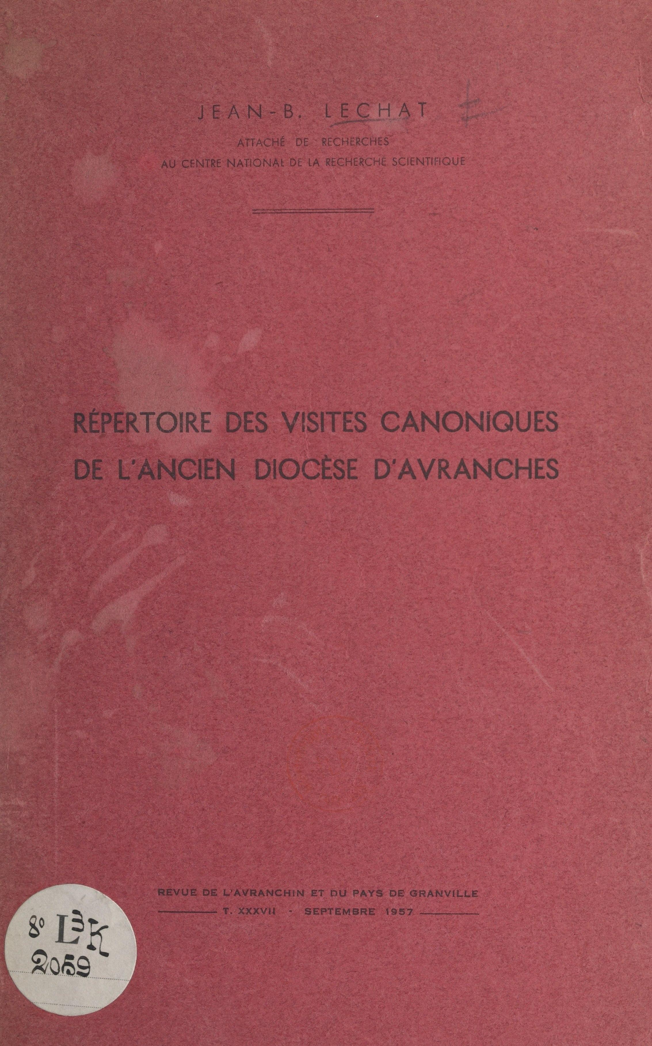 Répertoire des visites cano...