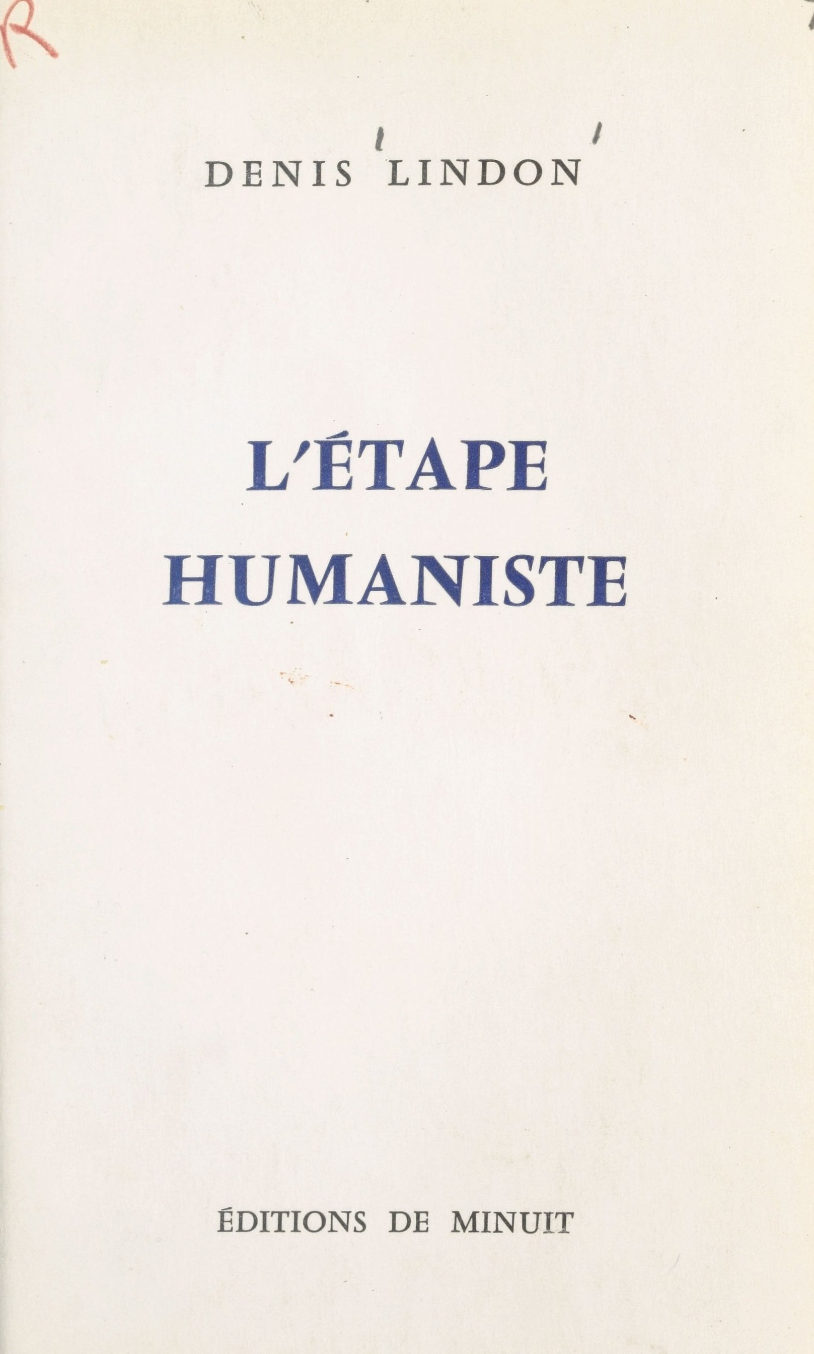 L'étape humaniste