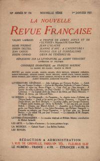 La Nouvelle Revue Française N' 136 (Janvier 1925)