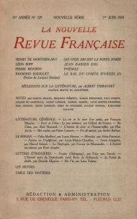 La Nouvelle Revue Française N' 129 (Juin 1924)